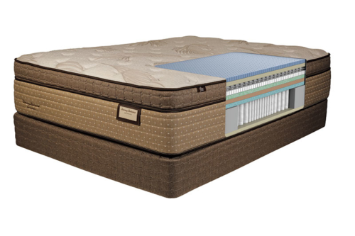 Tommy Bahama cutaway shot of the interior mattress materials for the Seaside Serenity model