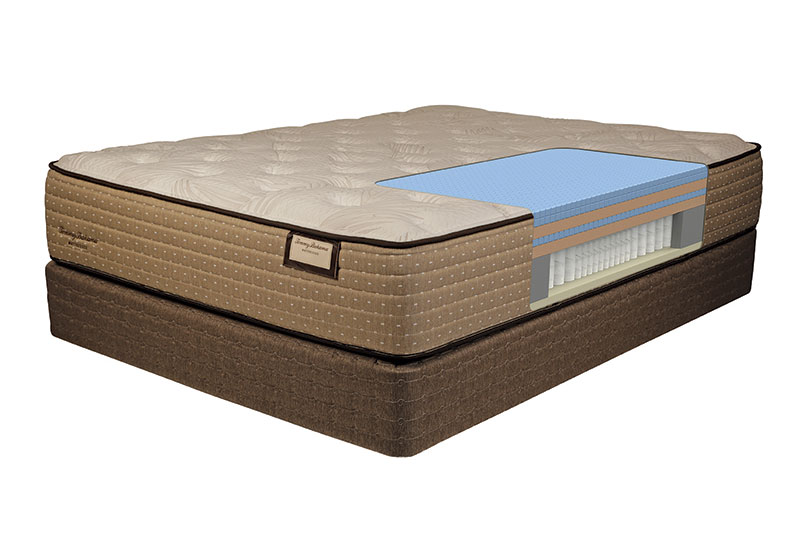 Tommy Bahama cutaway shot of the interior mattress materials for the Shake The Sand model